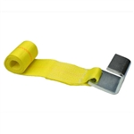 "C).  4"" x 5' Yellow Strap w/ Container Hook"