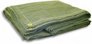 12 oz olive drab canvas tarp 10 x 10
